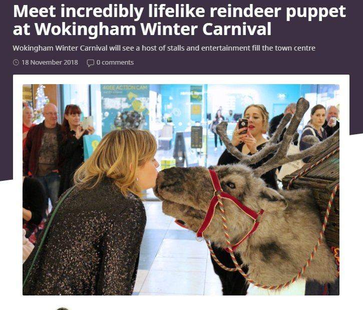 Jingle the puppet reindeer