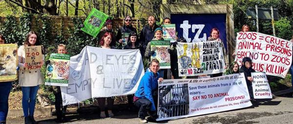 Zoo Protest at Twycross Zoo